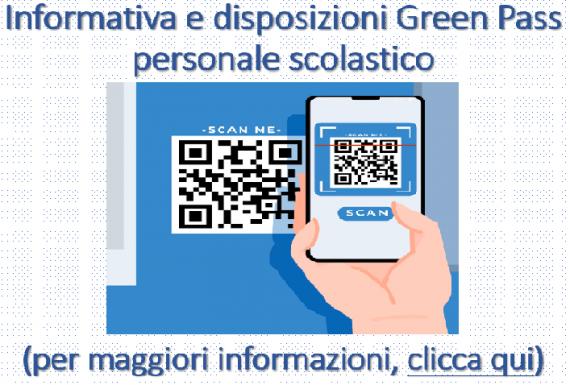 Informativa e disposizioni Green Pass
